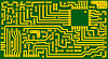 Vector clipart: Electronic green circuit background