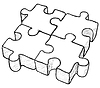 Vector clipart: Shaped drawing - puzzle