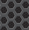Nahtlose Textur - Zwei-Schicht-Gitter mit sechs-Kohle