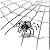 Vector clipart: spider in web