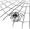 Векторный клипарт: паук в паутине