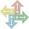 Vector clipart: Color circuit computer arrows -