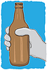 Vector clipart: Glass bottle - garbage for recycling -