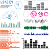 Vector clipart: Set of design elements - equalizers and scales