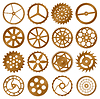 Vector clipart: Set of design elements - watch gears