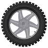 Vector clipart: Car wheel