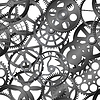 Seamless texture - watch gears