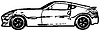 Vector clipart: Sports car - rough monochrome