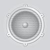 Vector clipart: Silver speaker -