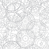 Seamless texture of time gears