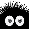 Vector clipart: Comic frightened creature -