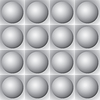 Vector clipart: Volumetric pattern - gray spheres and squares