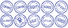 Set of round business stamps -