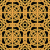 Vector clipart: Ethnic gold interlaced - seamless pattern