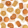 Vector clipart: Danish butter cookies - seamless texture