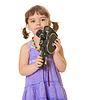 ID 3292689 | Ciekawy dziecka ze starym kamery | Foto stockowe wysokiej rozdzielczości | KLIPARTO