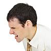 Hombres furiosos gritos | Foto de stock