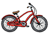 Vector clipart: Old bicycle - stylized