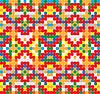 Seamless pattern - cross-stitch style
