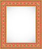 Vector clipart: Vertical frame with an ornament - Ukrainian style
