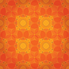 Vector clipart: Orange abstract floral background