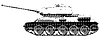 Vector clipart: Russian tank T 34 - drawing