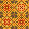Бесшовные текстуры - Украинская вышивка крестом орнамент