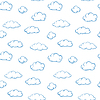 Vector clipart: Clouds - seamless texture