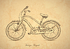 Vector clipart: Vintage bicycle - in retro style
