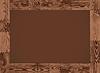 Векторный клипарт: горизонтальная рамка - темный лес