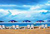 早晨的热带海滩   免版税照片