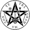 Vektor Cliparts: Tetragrammaton - unaussprechlicher Namen des Gottes