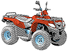 Vector clipart: Quad bike