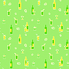 Vector clipart: Wrapping paper. Theme of beverages. Retro