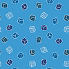 Vector clipart: Simple background - cubes in blue