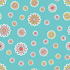Vector clipart: Old-fashioned floral pattern