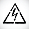 Vector clipart: danger high voltage warning sign