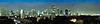 全景夜间城市 - 泰国曼谷 | 免版税照片
