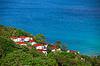 附近热带海洋美丽的小房子 | 免版税照片
