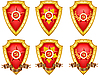 Vector clipart: set of military shields with medals