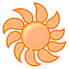 Vector clipart: sun sign