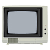 Vector clipart: old TV set with plastic housing