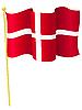 Vector clipart: national flag of Denmark