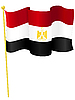 Vektor Cliparts: Nationalflagge Ägyptens