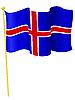 Vector clipart: flag Iceland