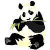 Vector clipart: giant panda