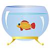 Vector clipart: Decorative fish in an aquarium