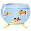 Vector clipart: Decorative fishs in an aquarium