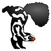 Vector clipart: skunk