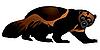 Vector clipart: wolverine